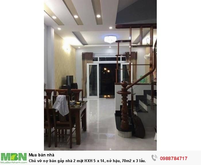 Chủ vỡ nợ bán gấp nhà 2 mặt HXH 5 x 14, nở hậu, 70m2 x 3 lầu. (TL). Thích Quảng Đức - Phú Nhuận.