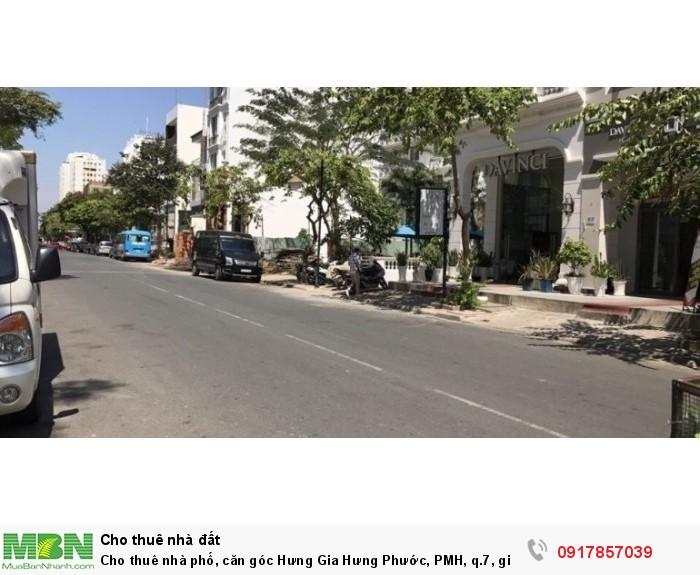 Cho thuê nhà phố, căn góc Hưng Gia Hưng Phước, PMH, q.7, giá: 125tr/th