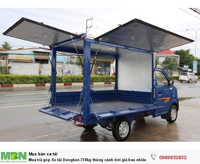 Mua trả góp Xe tải Dongben 770kg thùng cánh dơi giá bao nhiêu