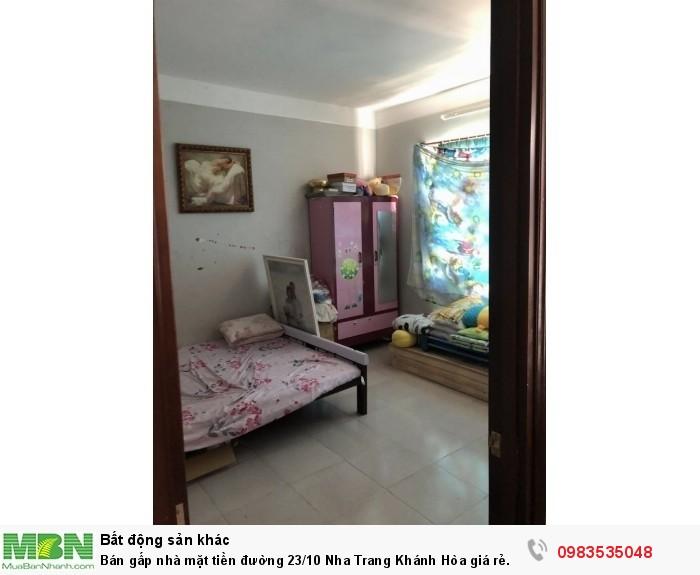 Bán gấp nhà mặt tiền đường 23/10 Nha Trang Khánh Hòa giá rẻ.