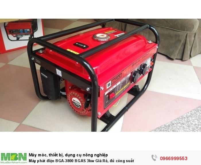 Máy phát điện BGA-3800 BGAS 3kw Giá Rẻ, đủ công suất