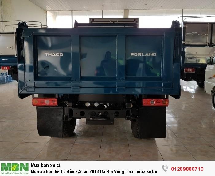 Mua xe Ben từ 1,5 đến 2,5 tấn 2018 Bà Rịa Vũng Tàu - mua xe ben trả góp - xe ben giá tốt