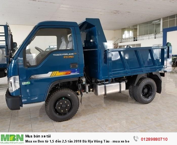 Mua xe Ben từ 1,5 đến 2,5 tấn 2018 Bà Rịa Vũng Tàu - mua xe ben trả góp - xe ben giá tốt 4