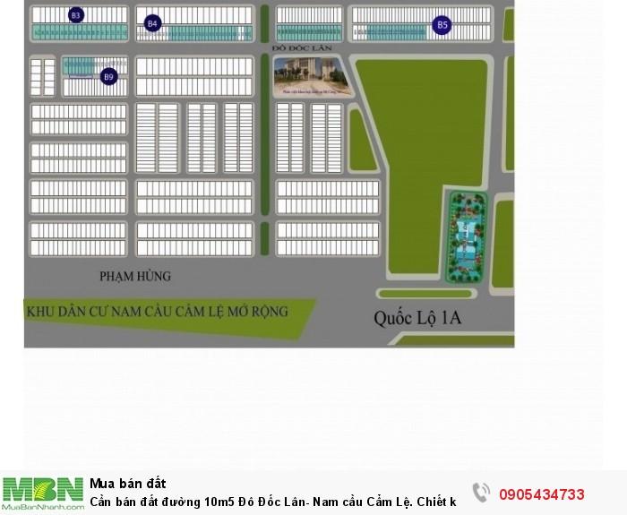 Cần bán đất đường 10m5 Đô Đốc Lân- Nam cầu Cẩm Lệ. Chiết khấu 3%, thích hợp đầu tư.