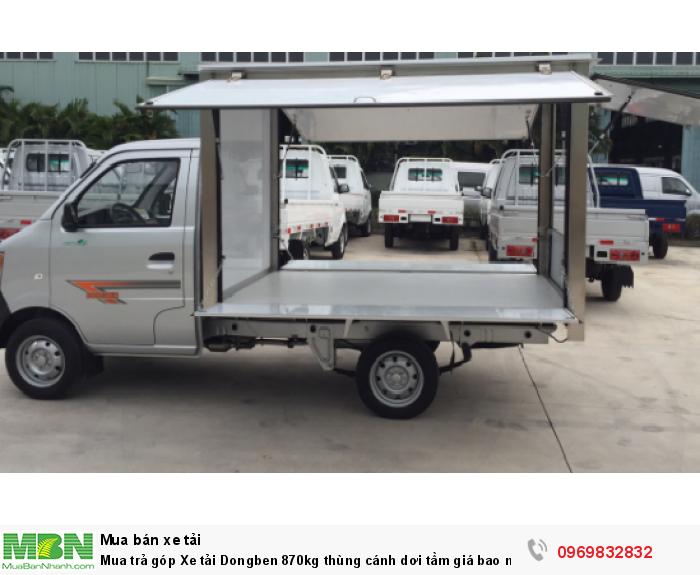 Mua trả góp Xe tải Dongben 870kg thùng cánh dơi 0