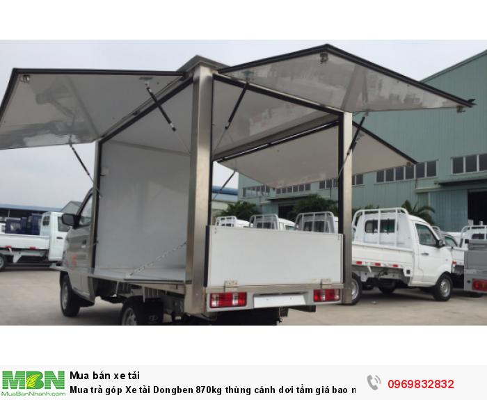 Mua trả góp Xe tải Dongben 870kg thùng cánh dơi 1