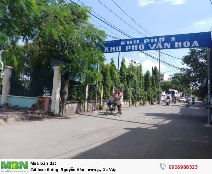 đất hẻm thông, Nguyễn Văn Lượng., Gò Vấp