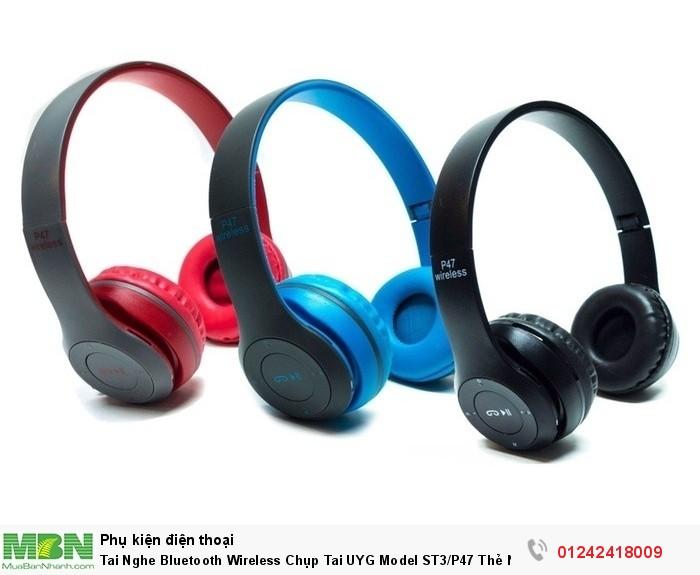 Tai Nghe Bluetooth Wireless Chụp Tai UYG Model ST3/P47 Thẻ Nhớ0