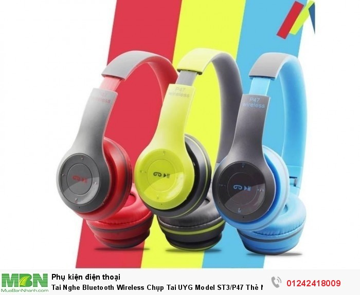 Tai Nghe Bluetooth Wireless Chụp Tai UYG Model ST3/P47 Thẻ Nhớ1