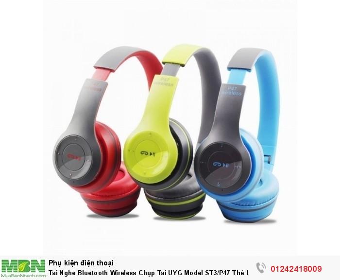 Tai Nghe Bluetooth Wireless Chụp Tai UYG Model ST3/P47 Thẻ Nhớ2