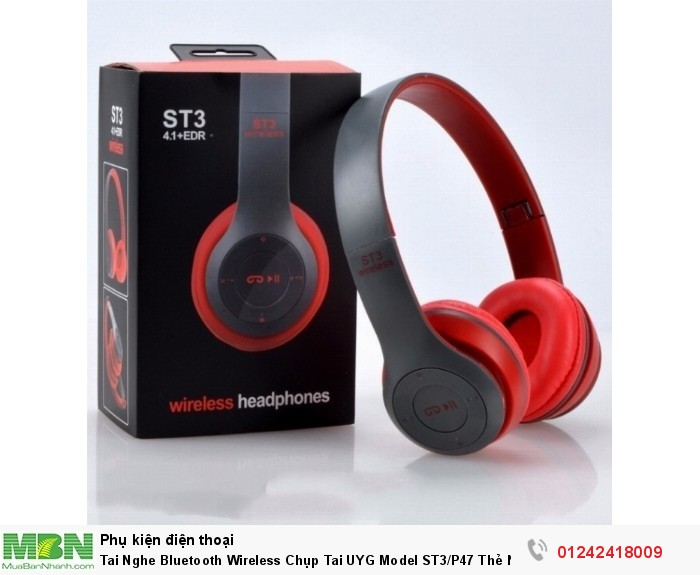 Tai Nghe Bluetooth Wireless Chụp Tai UYG Model ST3/P47 Thẻ Nhớ6