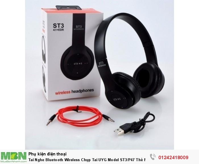 Tai Nghe Bluetooth Wireless Chụp Tai UYG Model ST3/P47 Thẻ Nhớ8