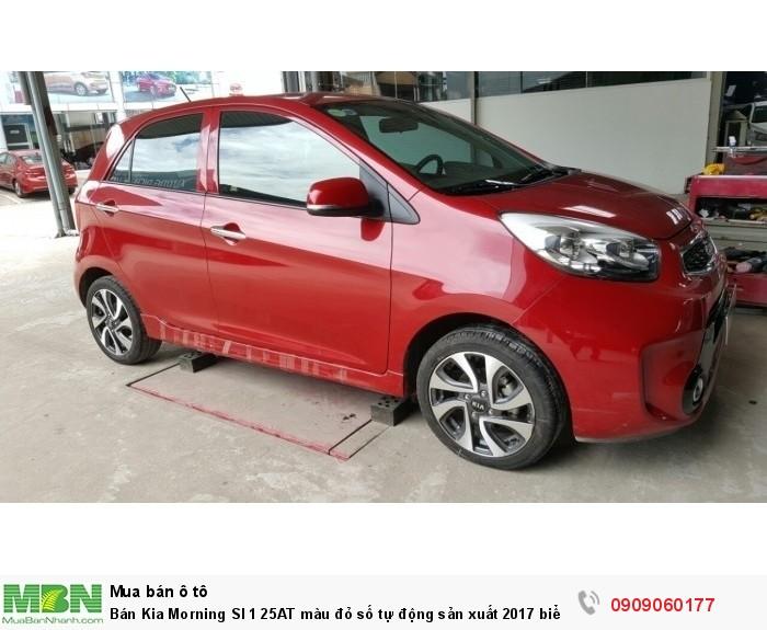 Bán Kia Morning SI 1 25AT màu đỏ số tự động sản xuất 2017 biển Sài Gòn