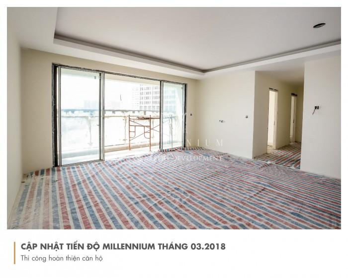 Cần bán căn hộ 2PN Millennium hướng Đông Bắc mát mẻ view Bitexco Quận 1, sông