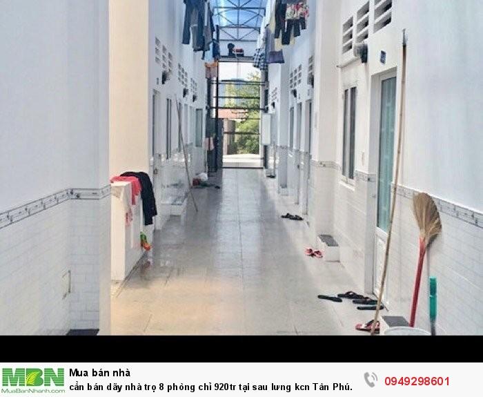 Cần bán dãy nhà trọ 8 phòng chỉ 920tr tại sau lưng kcn Tân Phú Trung