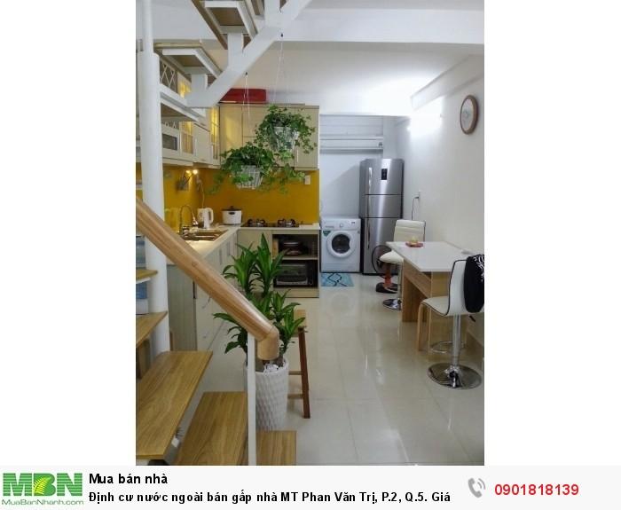 Định cư nước ngoài bán gấp nhà MT Phan Văn Trị, P.2, Q.5.