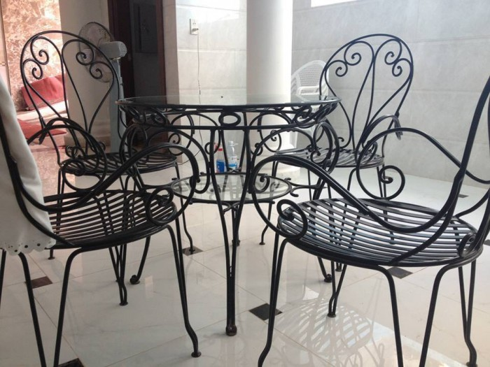 Bàn ghế sắt mỹ nghệ giá rẻ2
