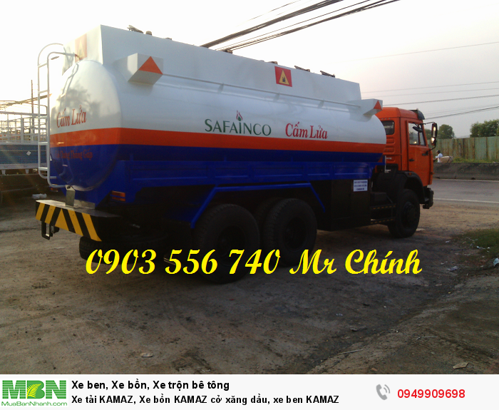 Xe tải KAMAZ, Xe bồn KAMAZ cở xăng dầu, xe ben KAMAZ