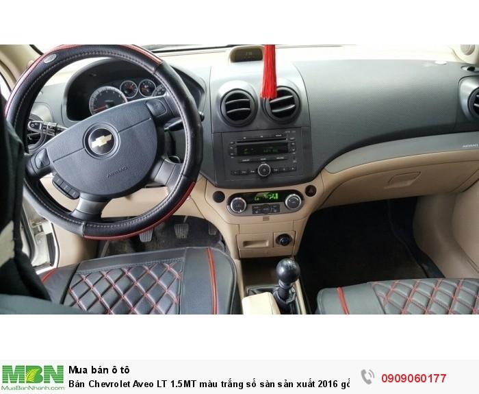 Bán Chevrolet Aveo LT 1.5MT màu trắng số sàn sản xuất 2016 gốc Sài Gòn