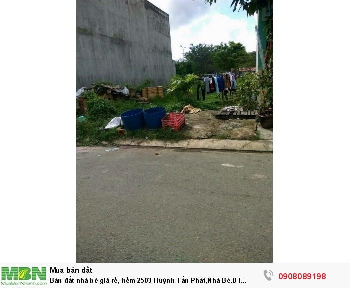 Bán đất nhà bè giá rẻ, hẻm 2503 Huỳnh Tấn Phát,Nhà Bè.DT 5x20m.Giá mềm 1,85 tỷ