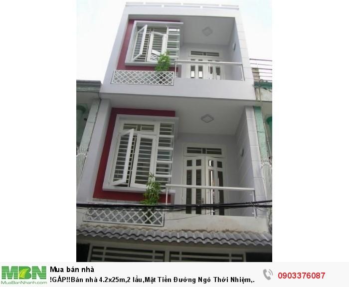 !GẤP!!Bán nhà 4.2x25m,2 lầu,Mặt Tiền Đường Ngô Thời Nhiệm, Phường5 , Quận 3, giá 15,5 tỷ