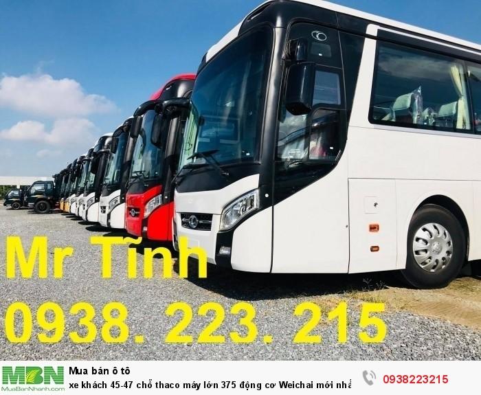 Xe khách 45-47 chỗ thaco máy lớn 375 động cơ Weichai mới nhất E4 2018