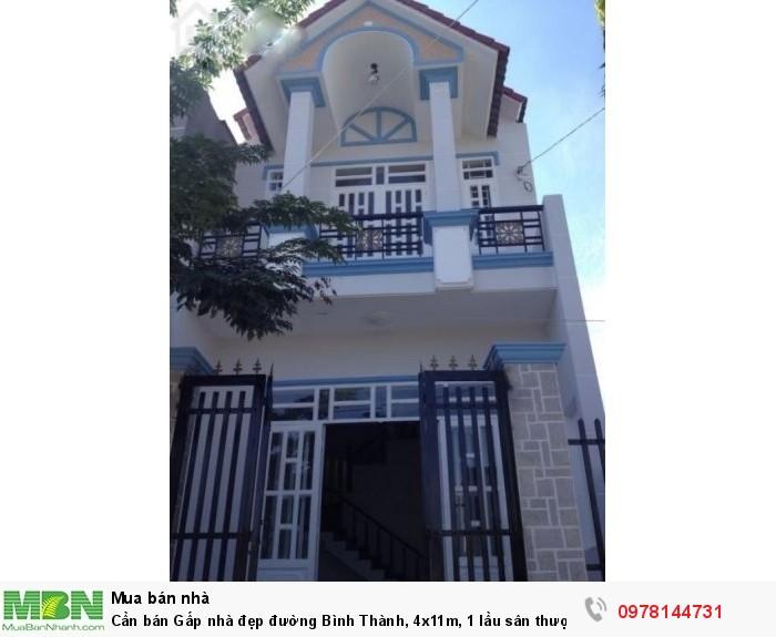 Cần bán Gấp nhà đẹp đường Bình Thành, 4x11m, 1 lầu sân thượng