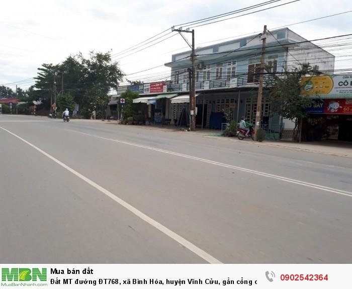 Đất MT đường ĐT768, xã Bình Hòa, huyện Vĩnh Cửu, gần cổng chùa Phổ Quang