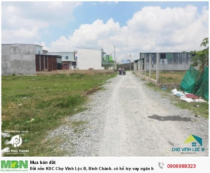 Đắt nền KDC Chợ Vĩnh Lộc B, Bình Chánh. có hỗ trợ vay ngân hàng
