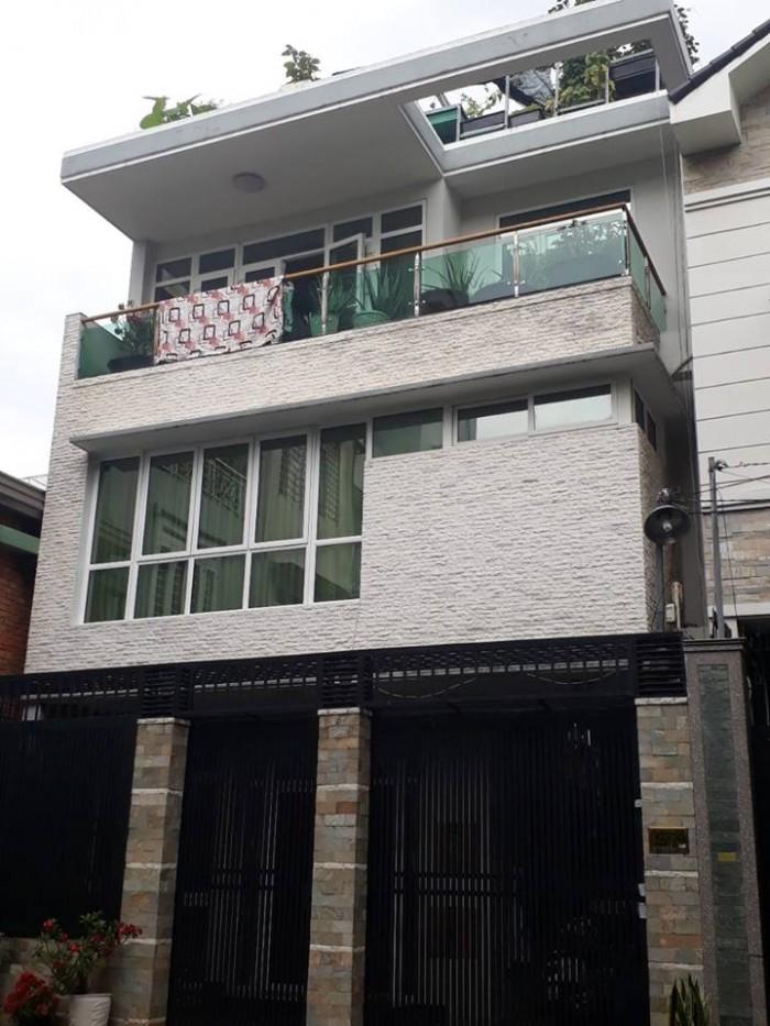 Nhà mới cần bán, khu phân lô, TT Gò Vấp, 5x17, 4 lầu, hẻm 7m, dân trí cao