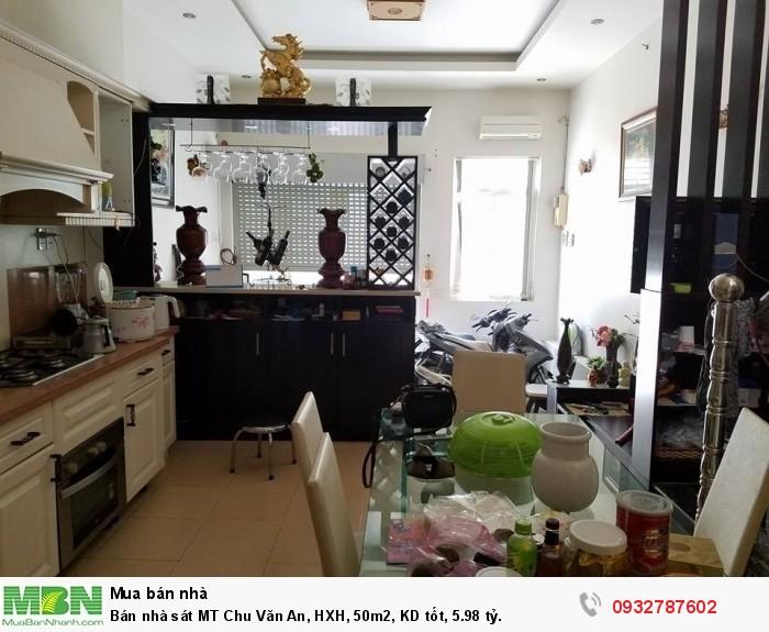 Bán nhà sát MT Chu Văn An, HXH, 50m2, KD tốt, 5.98 tỷ.