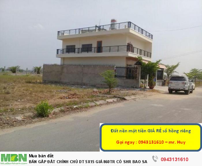 Cần bán gấp đất nền diện tích 5x15 giá 860tr có sổ hồng riêng khu vực Lê Minh Xuân