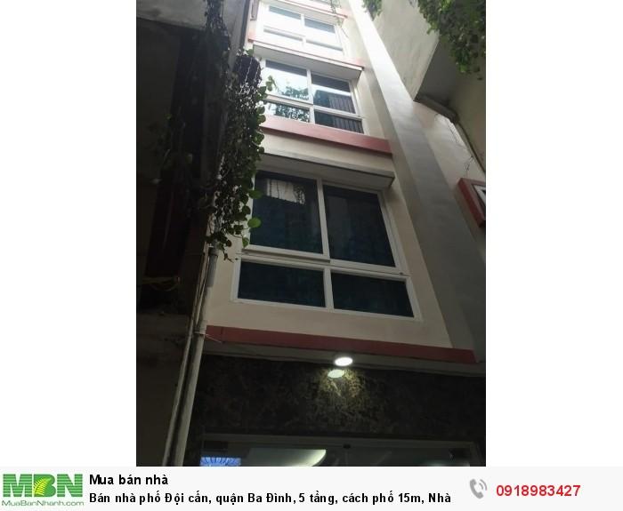 Bán nhà phố Đội cấn, quận Ba Đình, 5 tầng, cách phố 15m, Nhà Mới ở luôn
