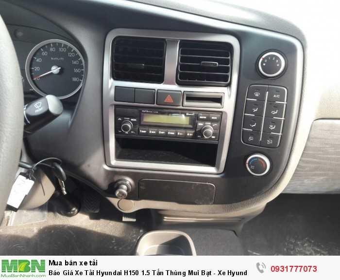 Báo giá xe tải Hyundai H150 thùng mui bạt - Bảo hành 2 năm hoặc 50.000km