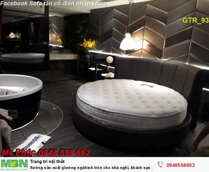 Xưởng sản xuất giường ngủ hình tròn cho nhà nghỉ, khách sạn - nội thất Kim Anh sài gòn