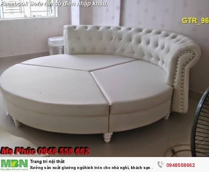 Xưởng sản xuất giường ngủ hình tròn cho nhà nghỉ, khách sạn - nội thất Kim Anh sài gòn1