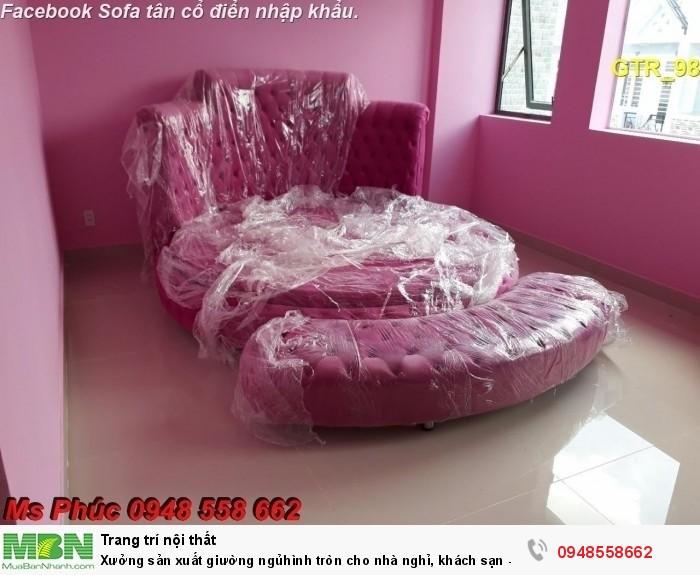 Xưởng sản xuất giường ngủ hình tròn cho nhà nghỉ, khách sạn - nội thất Kim Anh sài gòn4