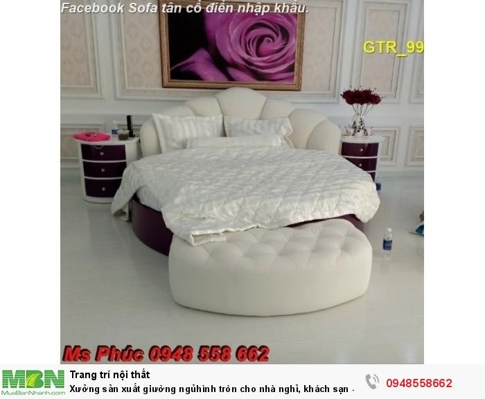 Xưởng sản xuất giường ngủ hình tròn cho nhà nghỉ, khách sạn - nội thất Kim Anh sài gòn5