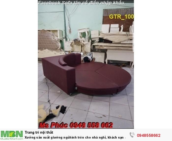 Xưởng sản xuất giường ngủ hình tròn cho nhà nghỉ, khách sạn - nội thất Kim Anh sài gòn6