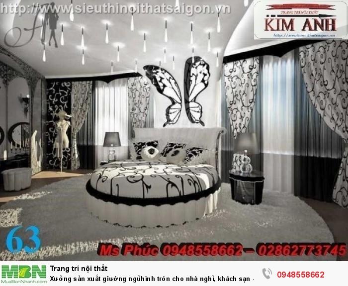 Xưởng sản xuất giường ngủ hình tròn cho nhà nghỉ, khách sạn - nội thất Kim Anh sài gòn9