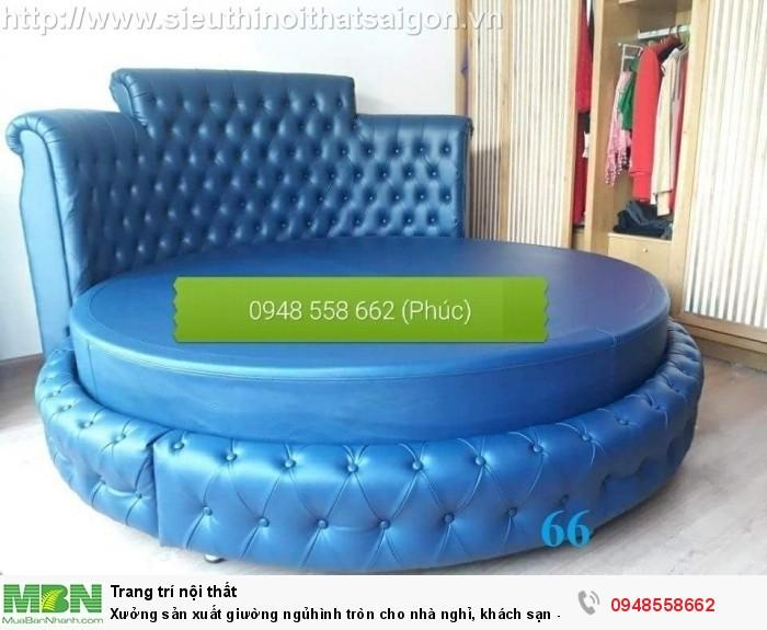 Xưởng sản xuất giường ngủ hình tròn cho nhà nghỉ, khách sạn - nội thất Kim Anh sài gòn12