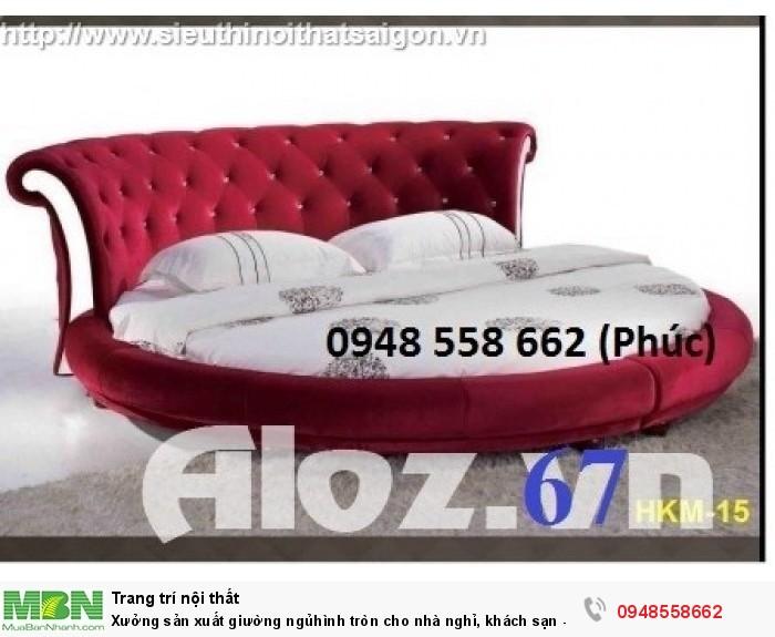 Xưởng sản xuất giường ngủ hình tròn cho nhà nghỉ, khách sạn - nội thất Kim Anh sài gòn13