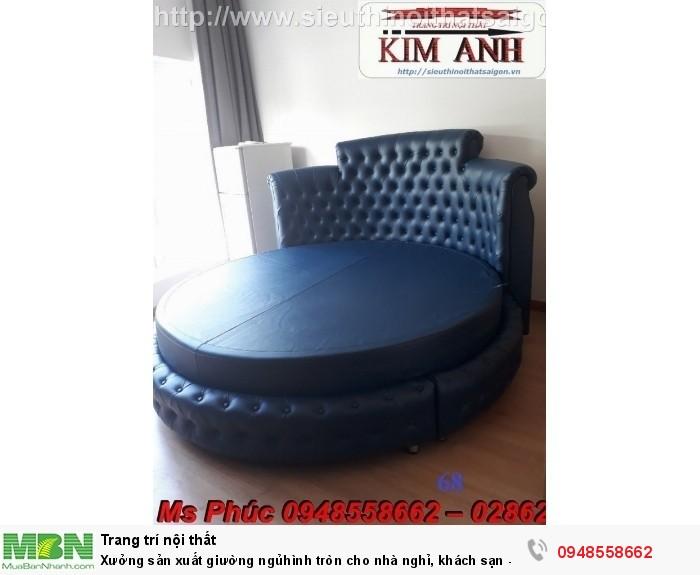 Xưởng sản xuất giường ngủ hình tròn cho nhà nghỉ, khách sạn - nội thất Kim Anh sài gòn14