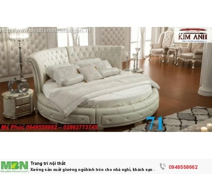 Xưởng sản xuất giường ngủ hình tròn cho nhà nghỉ, khách sạn - nội thất Kim Anh sài gòn17