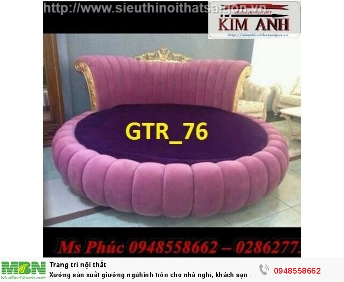 Xưởng sản xuất giường ngủ hình tròn cho nhà nghỉ, khách sạn - nội thất Kim Anh sài gòn20