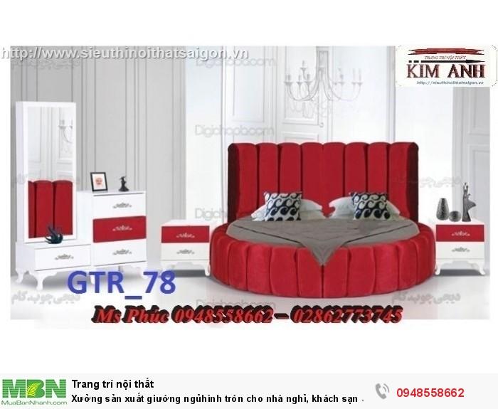 Xưởng sản xuất giường ngủ hình tròn cho nhà nghỉ, khách sạn - nội thất Kim Anh sài gòn22