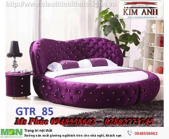 Xưởng sản xuất giường ngủ hình tròn cho nhà nghỉ, khách sạn - nội thất Kim Anh sài gòn29