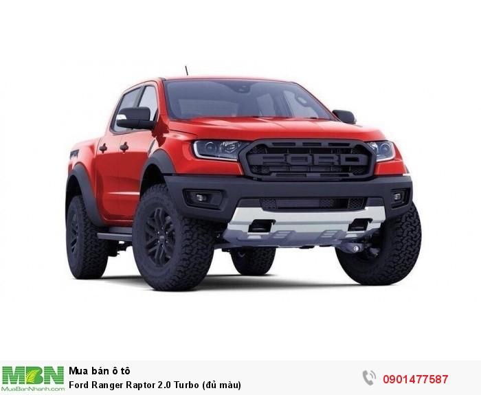 Ford Ranger Raptor 2.0 Turbo (đủ màu)