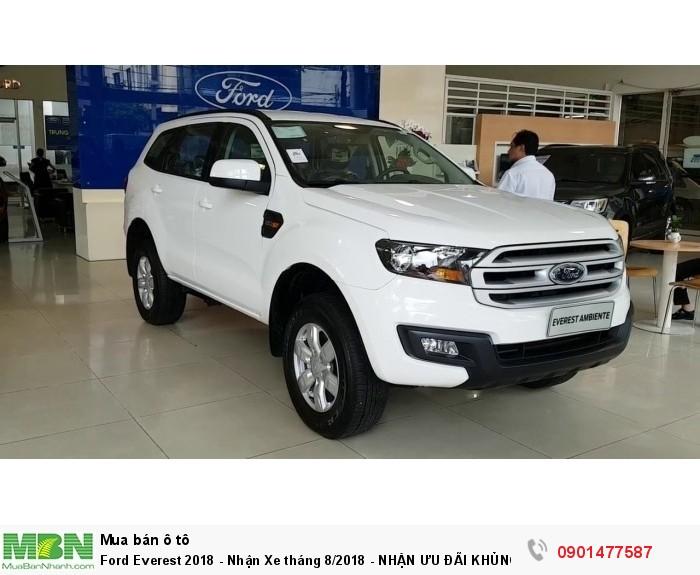 Ford Everest 2018 , 2.0L Turbo, Hộp số 10 cấp - Nhận Xe tháng 12/2018