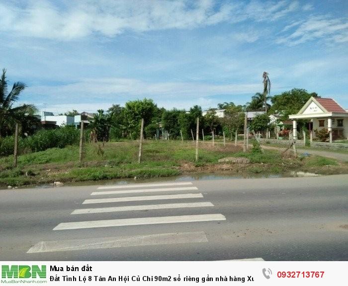 Đất Tỉnh Lộ 8 Tân An Hội Củ Chi 90m2 sổ riêng gần nhà hàng Xuân Anh.